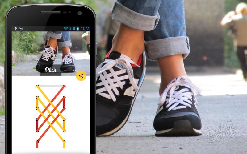 Фото как завязать красиво шнурки на кроссовках