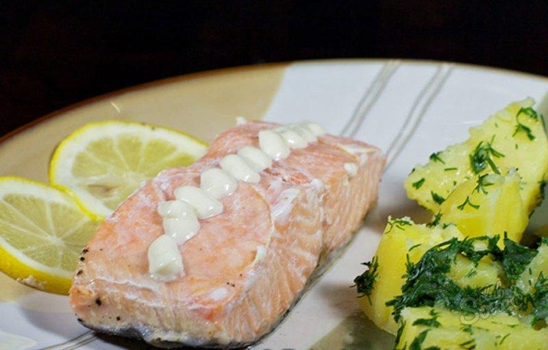 Красная рыба запеченная в духовке пошаговый рецепт с