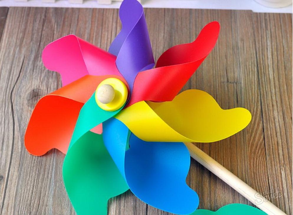 Ветряная мельница детская игрушка своими руками 71