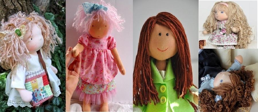 Волосы для куклы из ткани своими руками 55