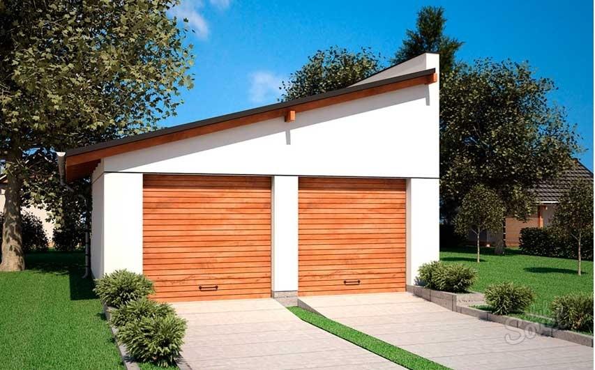 Дизайн односкатной крыши гаража