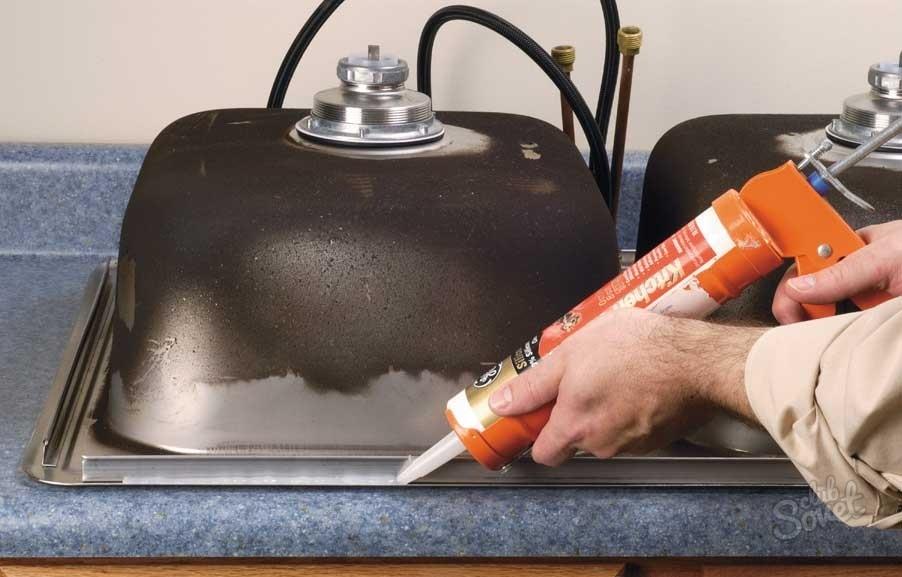 Как установить мойку в столешницу на кухне своими руками 66