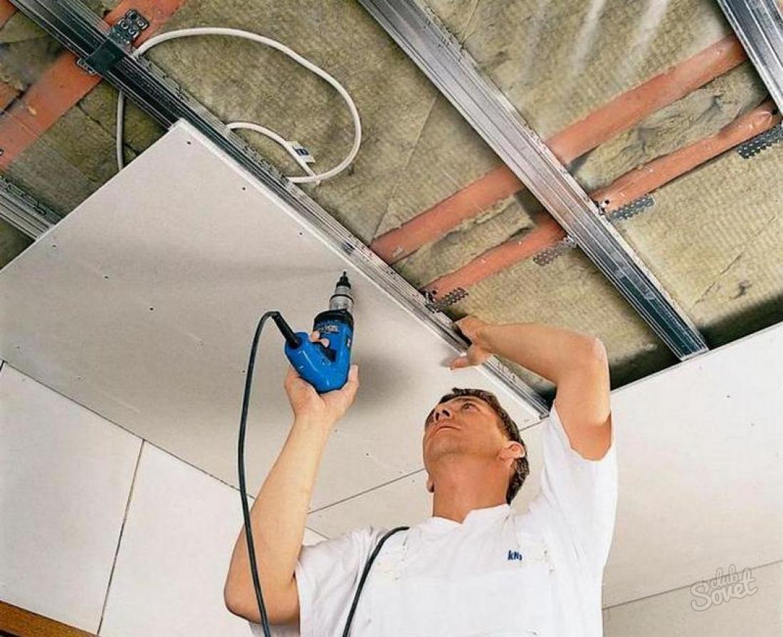 Потолок из гипсокартона своими руками правила монтажа