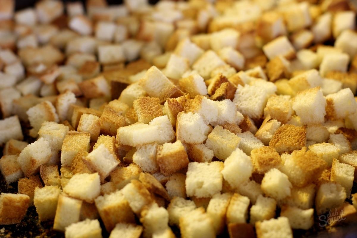 Как сделать сухарики из белого хлеба