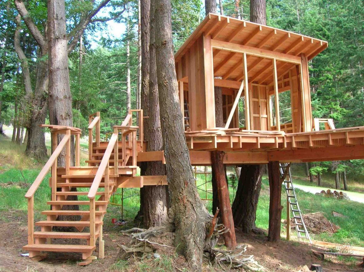 Как сделать мне ребенку дом на дереве 916