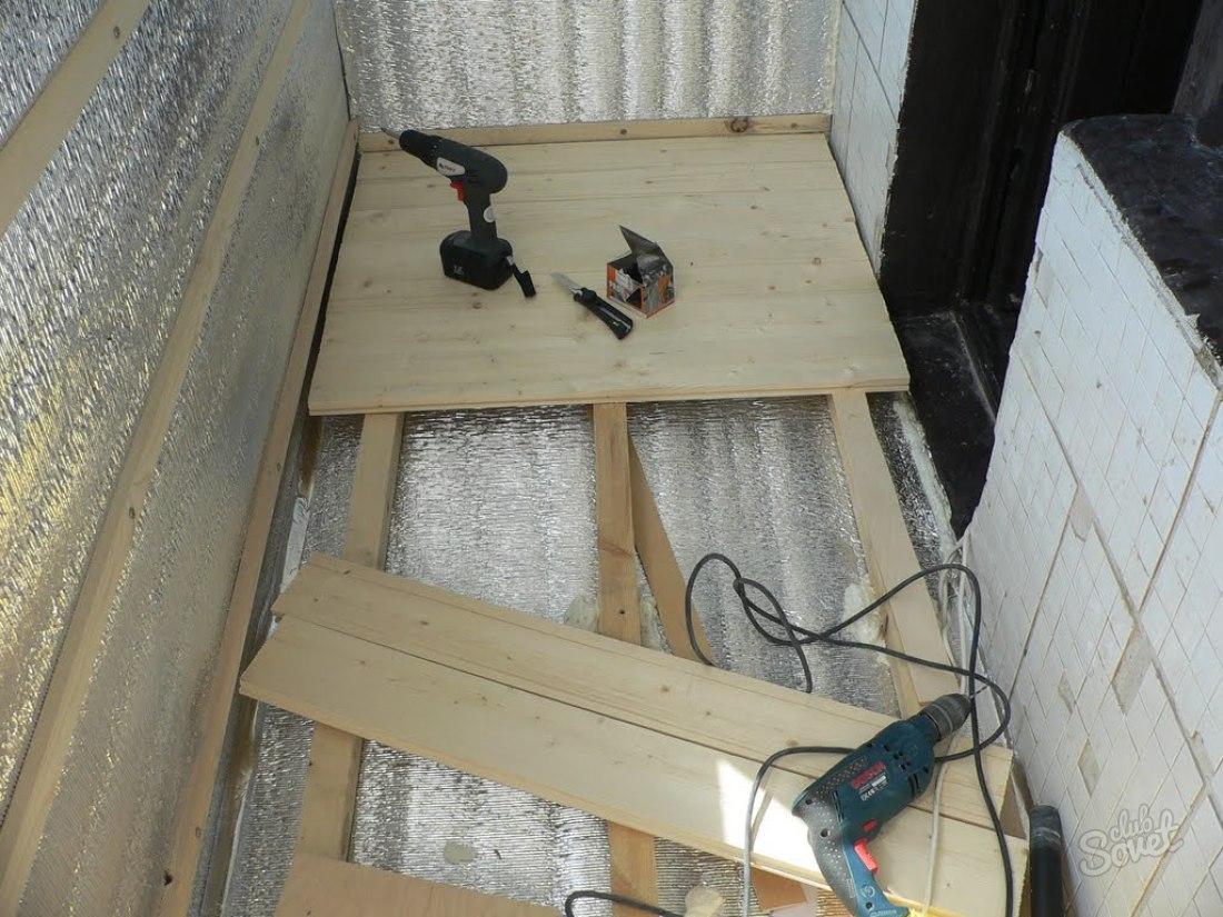Как утеплить пол на балконе. теплоизоляция пола на балконе.