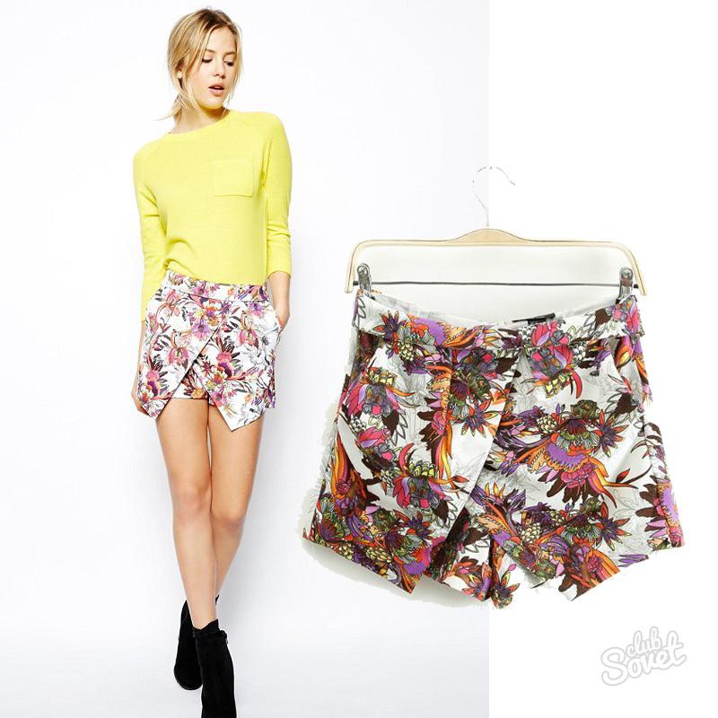 Как пошить шорты юбку