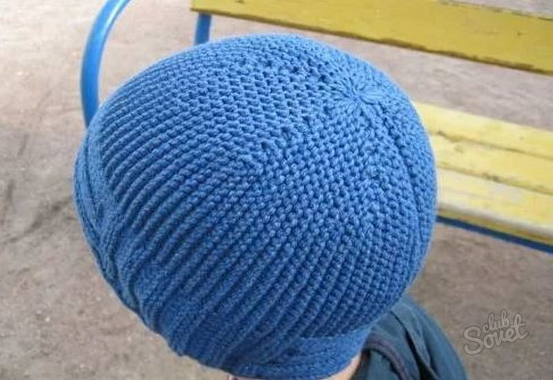 Как вязать сверху шапку
