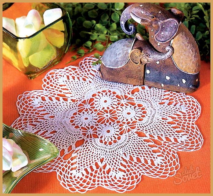 Вязание крючком салфетки от улановой
