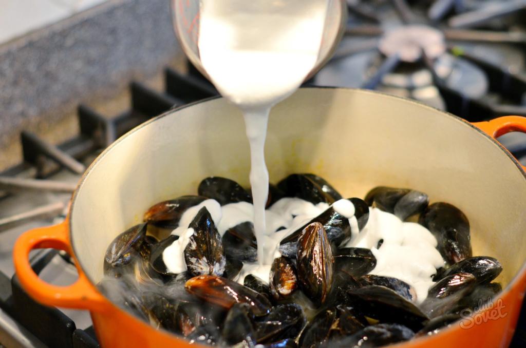 Мидии в сливочно-чесночном соусе рецепт пошагово