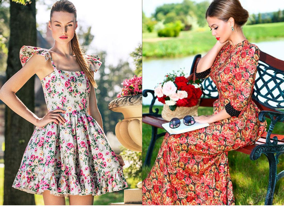 Платья в цветочек модные или в этом году