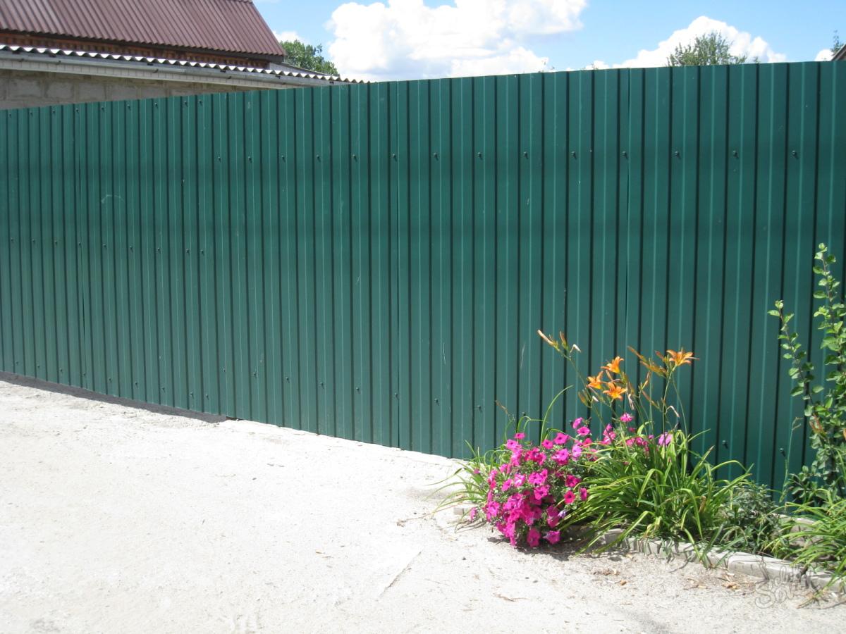 Купить забор из профнастила (металлопрофиля) в Минске. Лучшие цены на 11