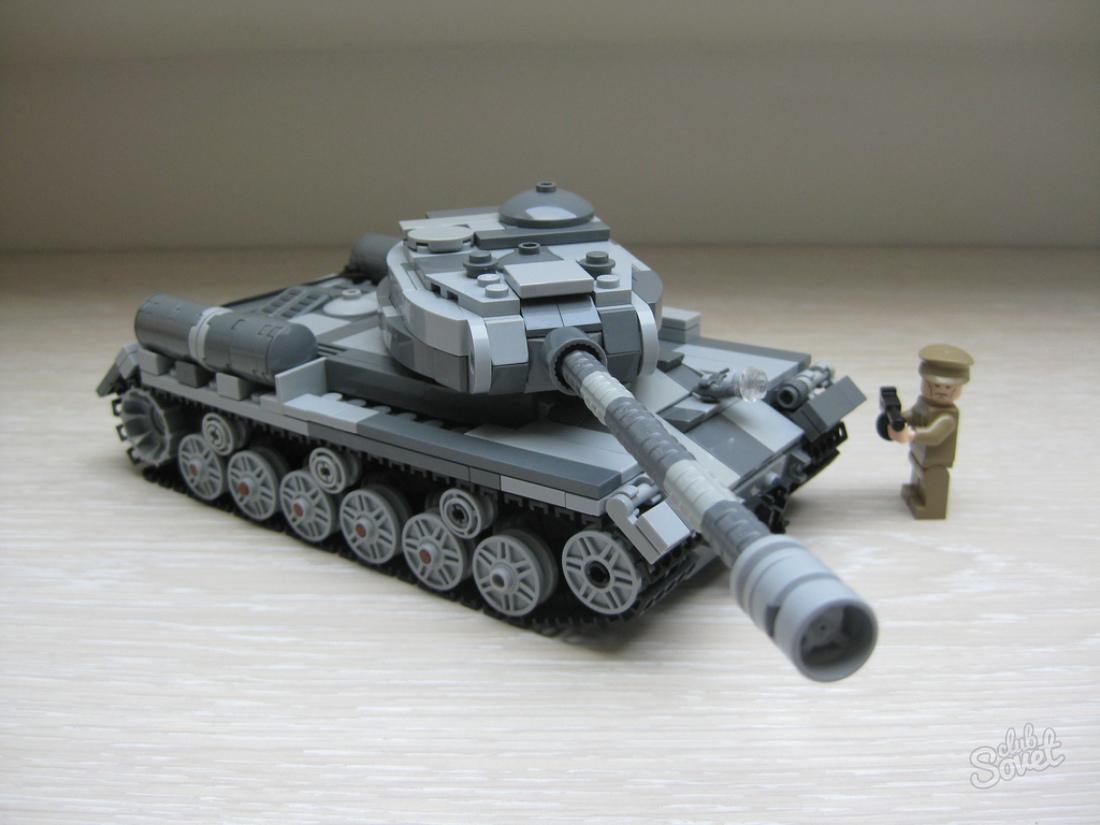 Фото как сделать из лего танк