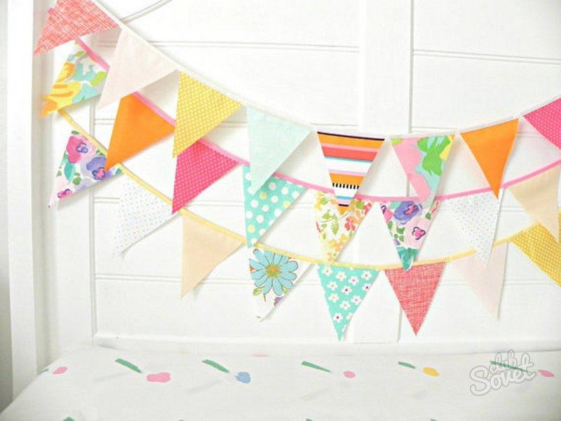 Украшения комнаты на день рождения своими руками из бумаги