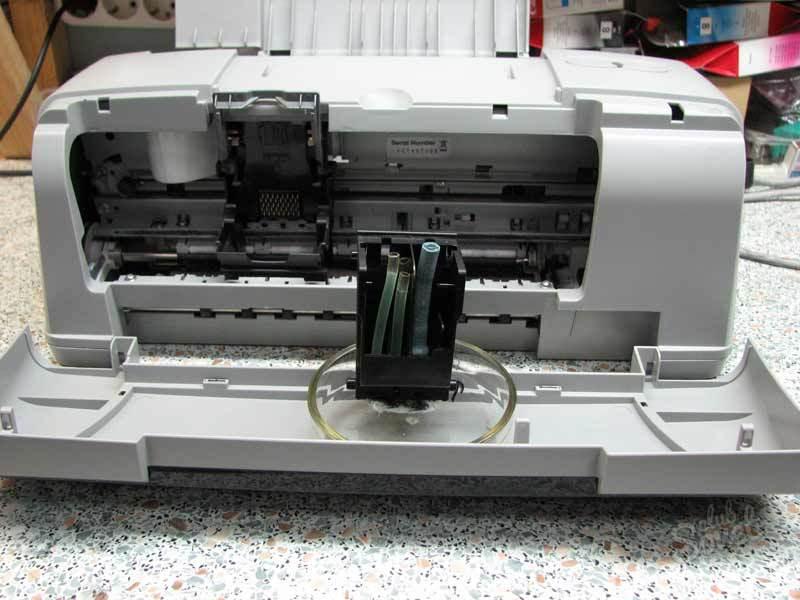 Где находятся головки в принтере