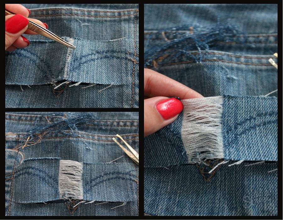 Как сделать что джинсы дальше не рвались 108
