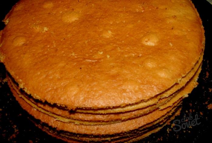 Торты из бисквитных коржей пошагово