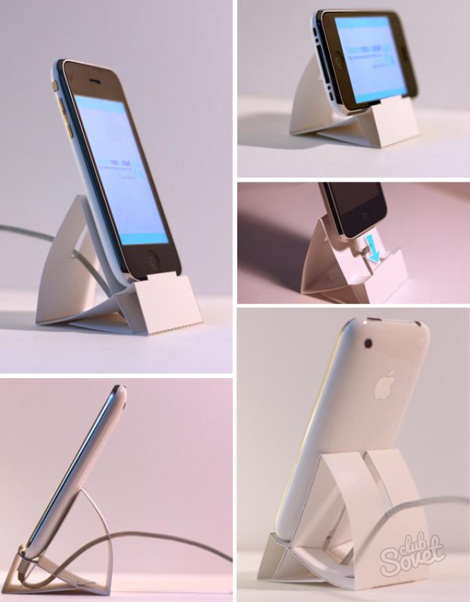 Сделать как сделать подставку для телефона