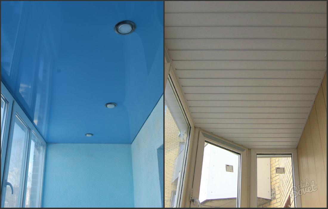 Как сделать потолки на балконе 759
