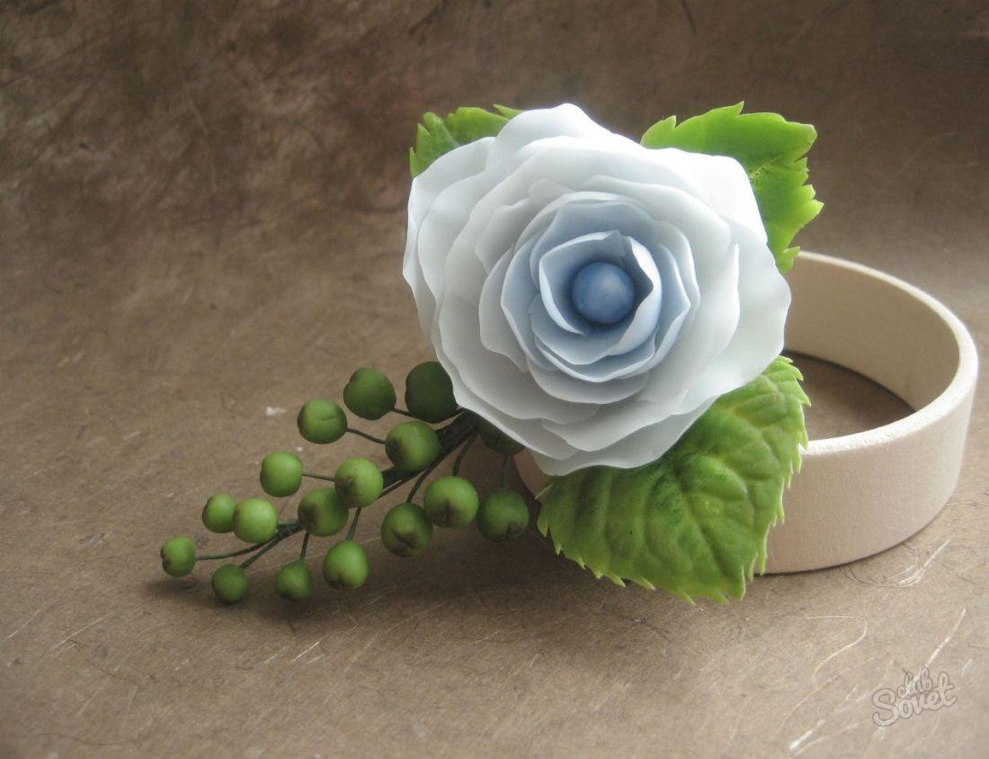 Как сделать листья роза из полимерной глины