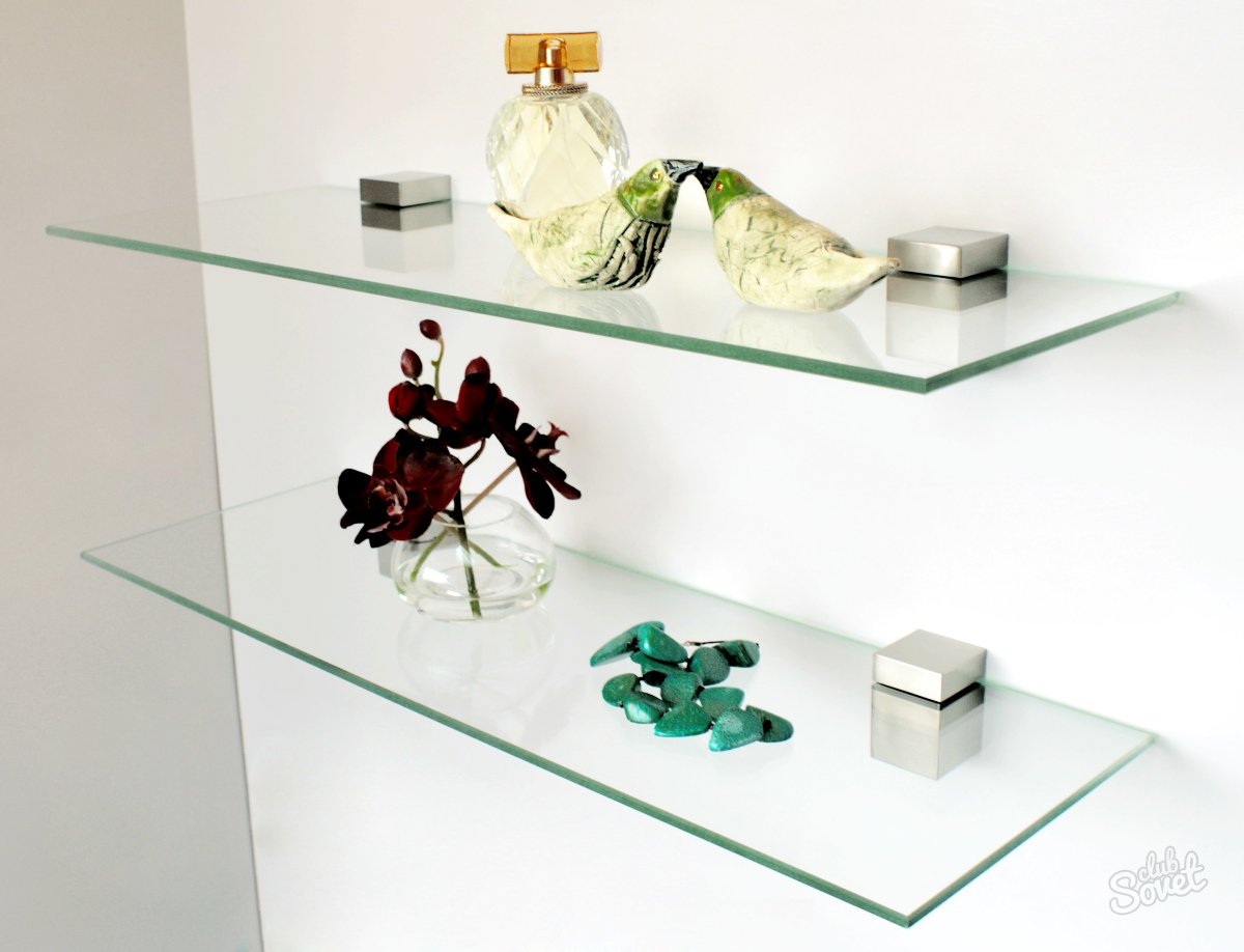 Полки для ванной из стекла своими руками
