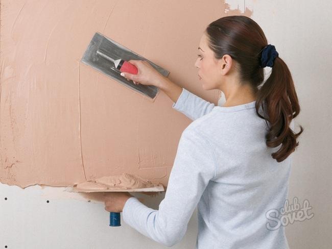 Чем шпаклевать стены своими руками фото