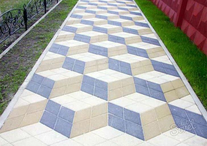 Укладка тротуарной плитки на улице видео