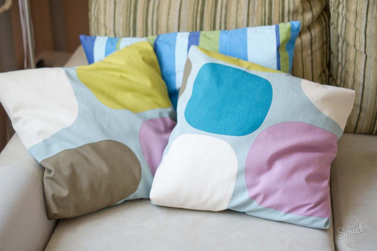 Как сшить чехол на диванную подушку своими руками