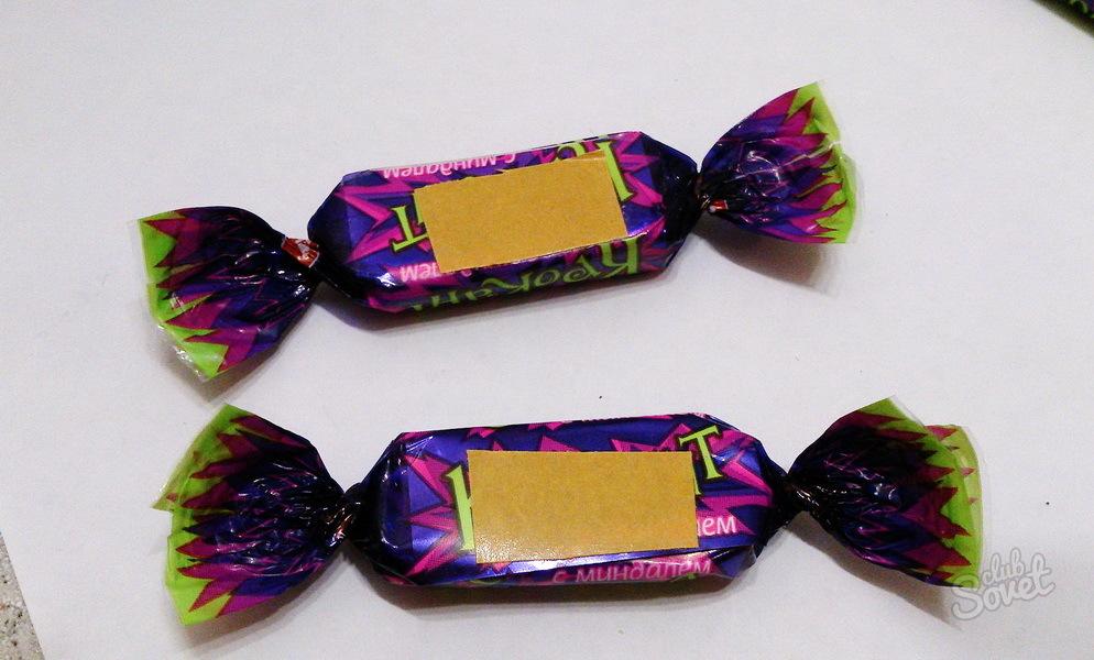 Бумажная конфета своими руками фото