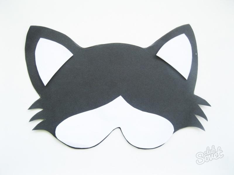 Сделать из бумаги маску кошки своими руками