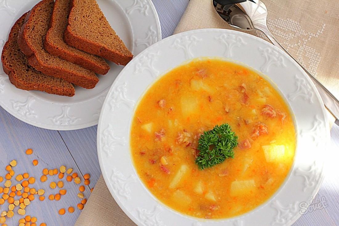 Гороховый суп с копченым мясом рецепт