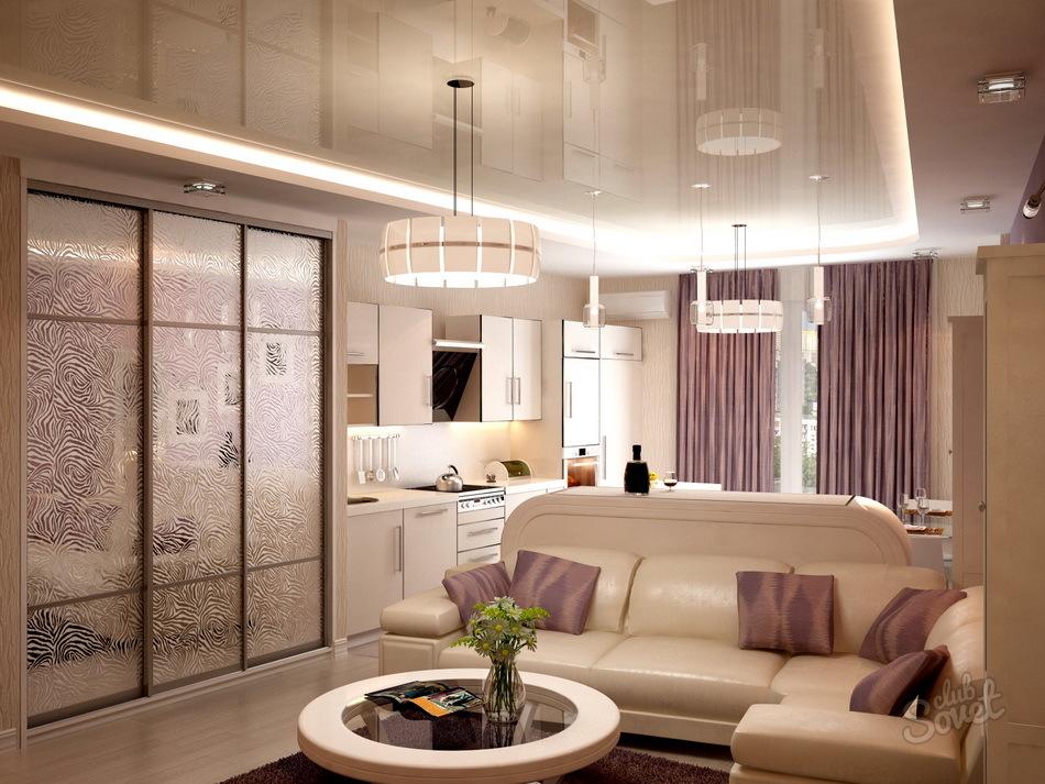 Дизайн квартиры студии двухкомнатных