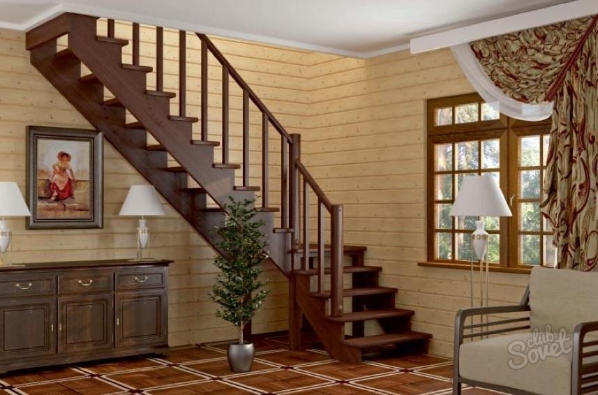 Сделать г-образную лестницу на второй этаж своими руками