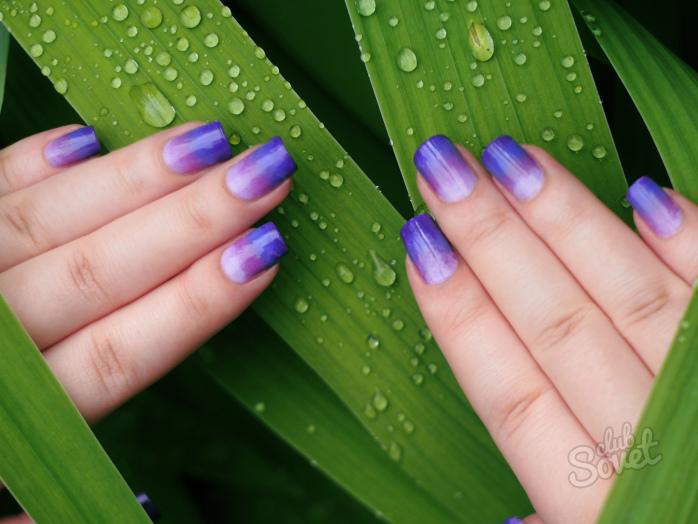 Картинки с ногтями двух цветов