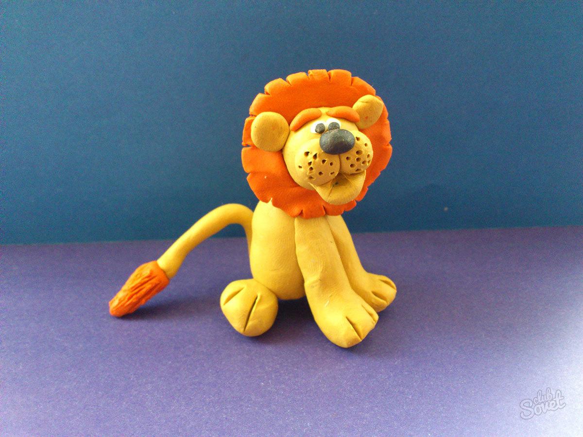 Как сделать из пластилина льва своими руками