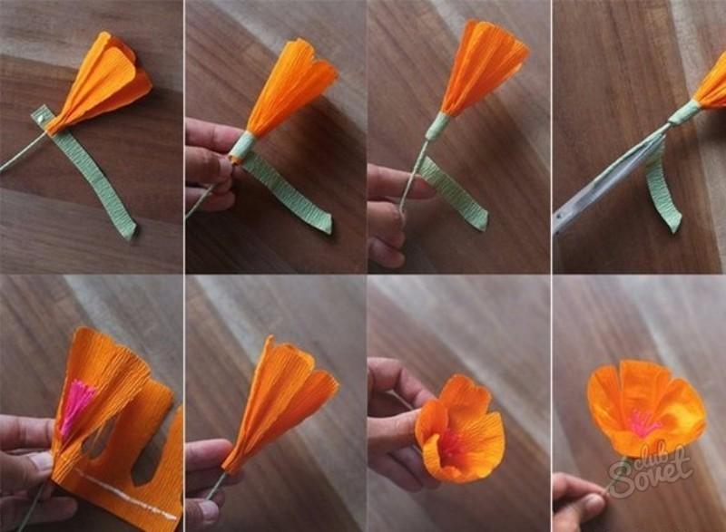Какие цветы можно сделать из гофрированной бумаги 52