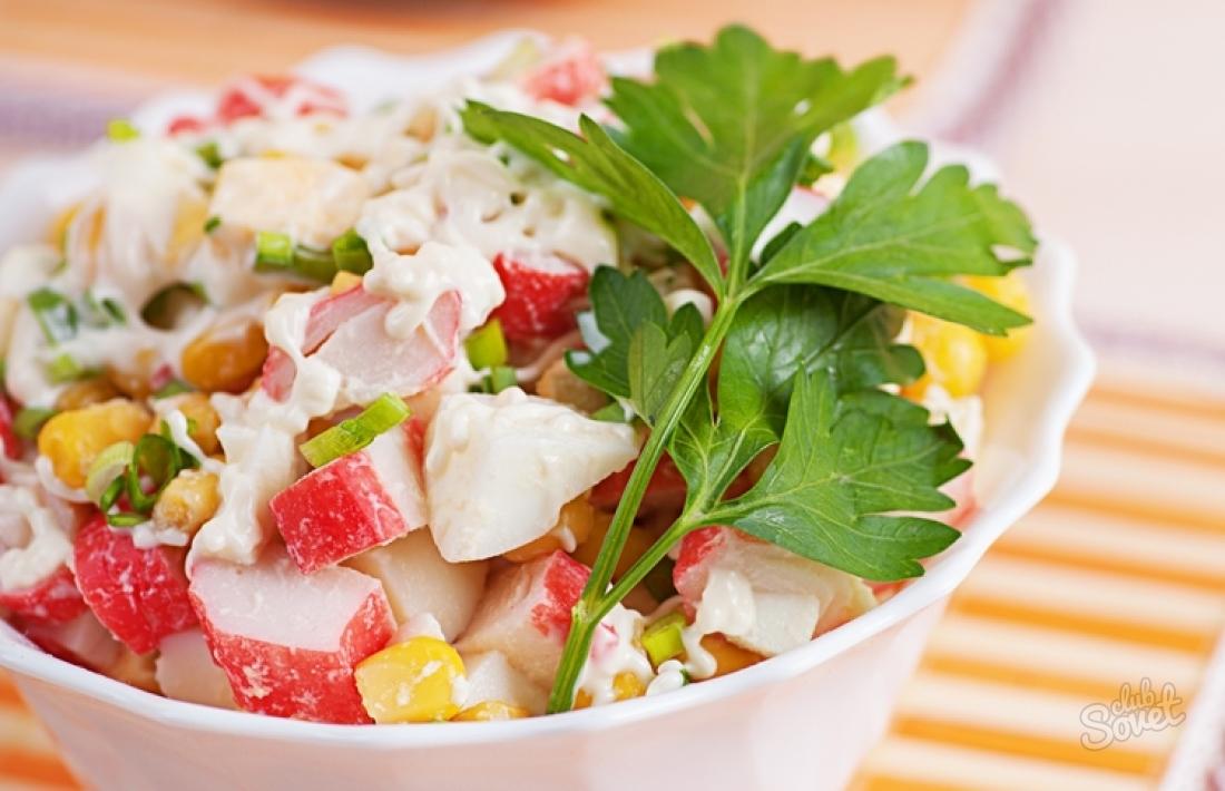 Рецепты крабового салата с