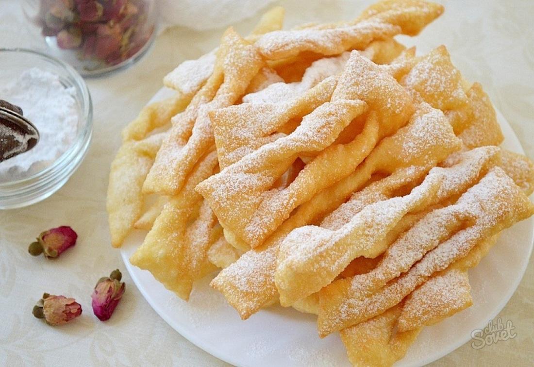 Как испечь хворост рецепт на маргарине
