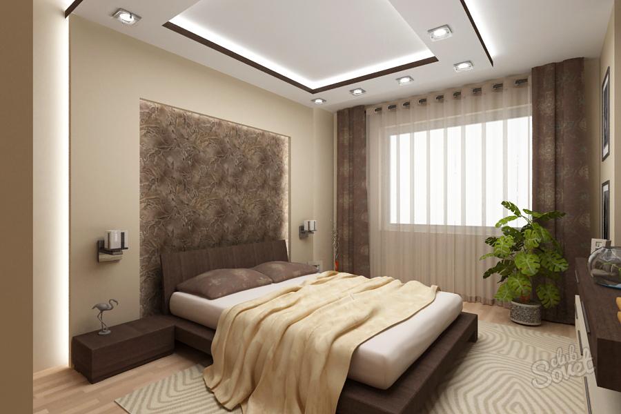 Современный ремонт спальни фото