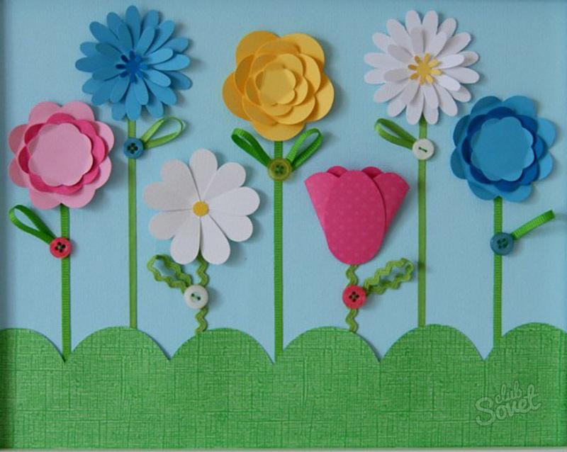 Как сделать с детьми цветок
