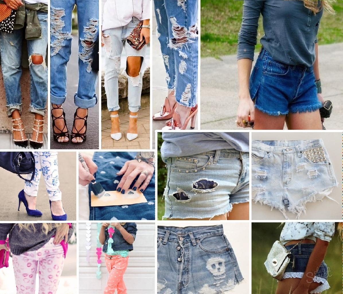 Как из обычных джинс сделать модную 731