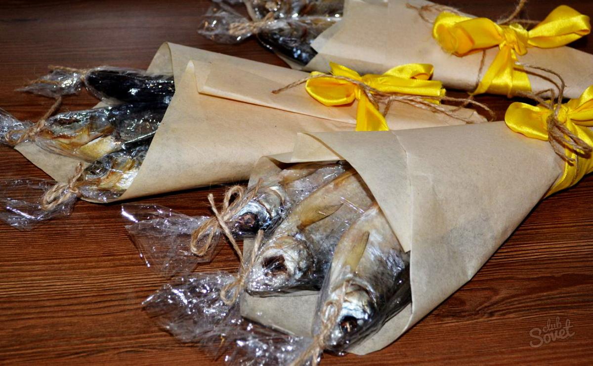 Пивной букет из рыбы своими руками