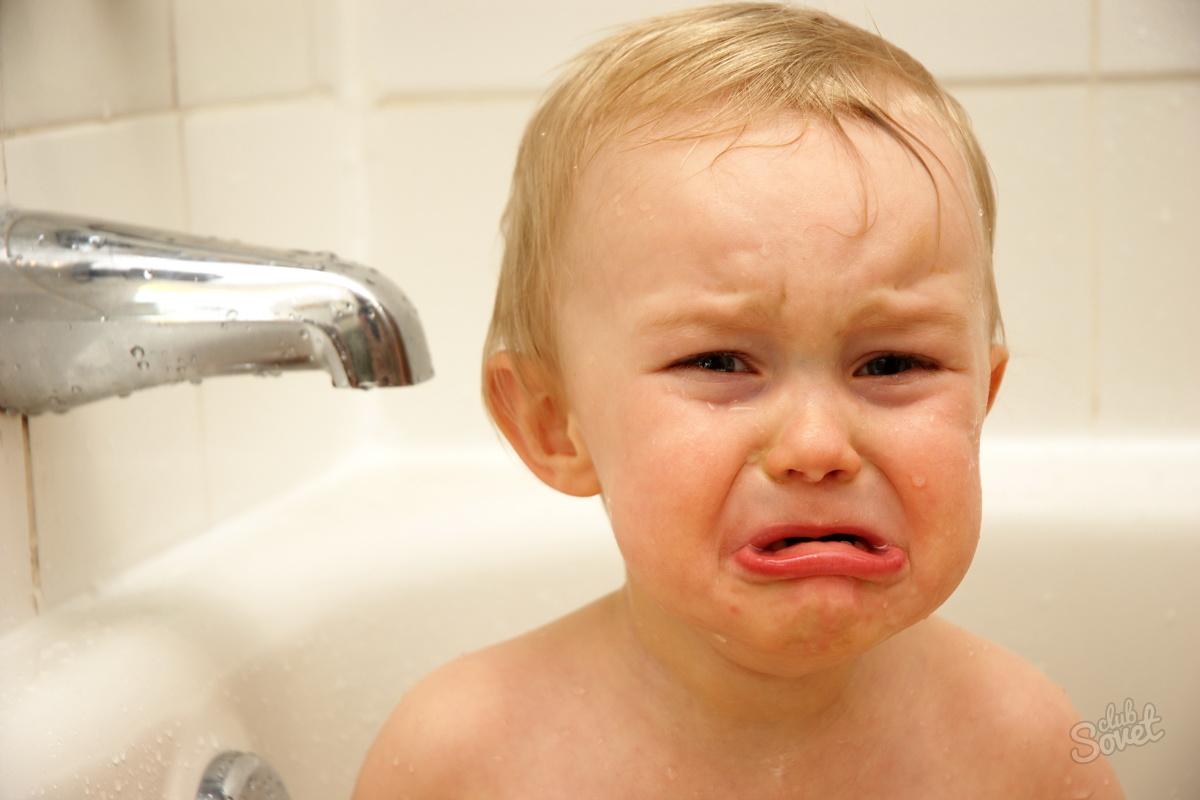 Почему после ванны ребенок плачет