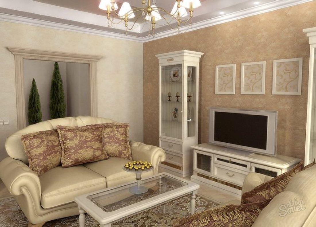 Красивые гостиные комнаты фото классика