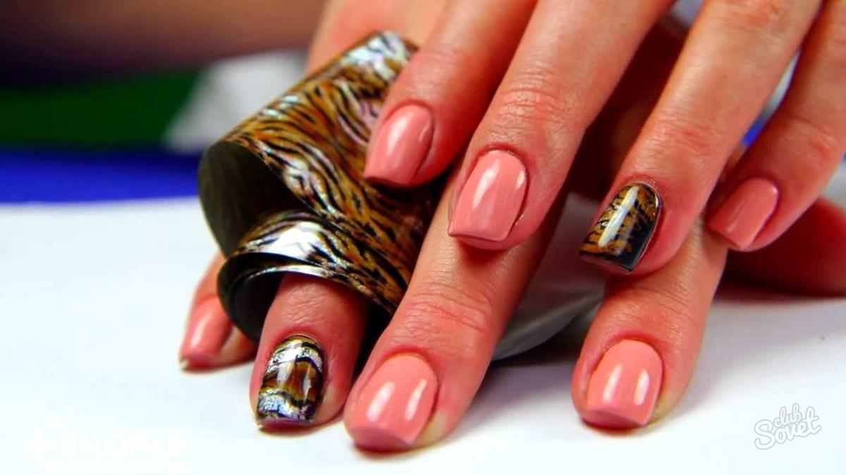 Как сделать ногти фольгой гель лак
