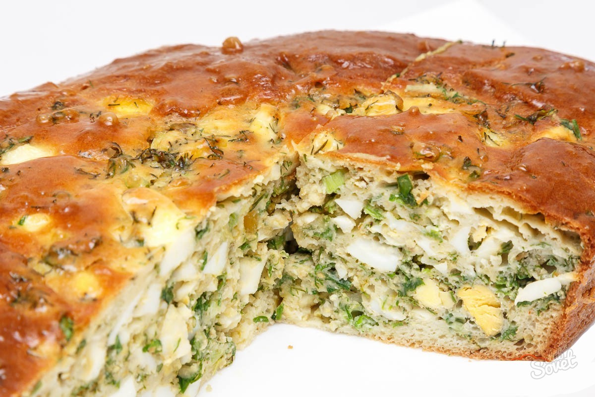 пирог с яйцом капустой и луком