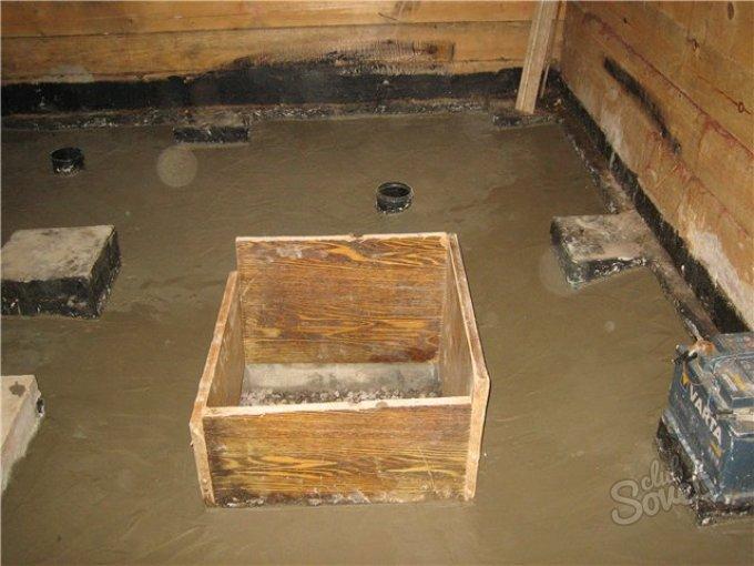 Как сделать подвал в бане 486