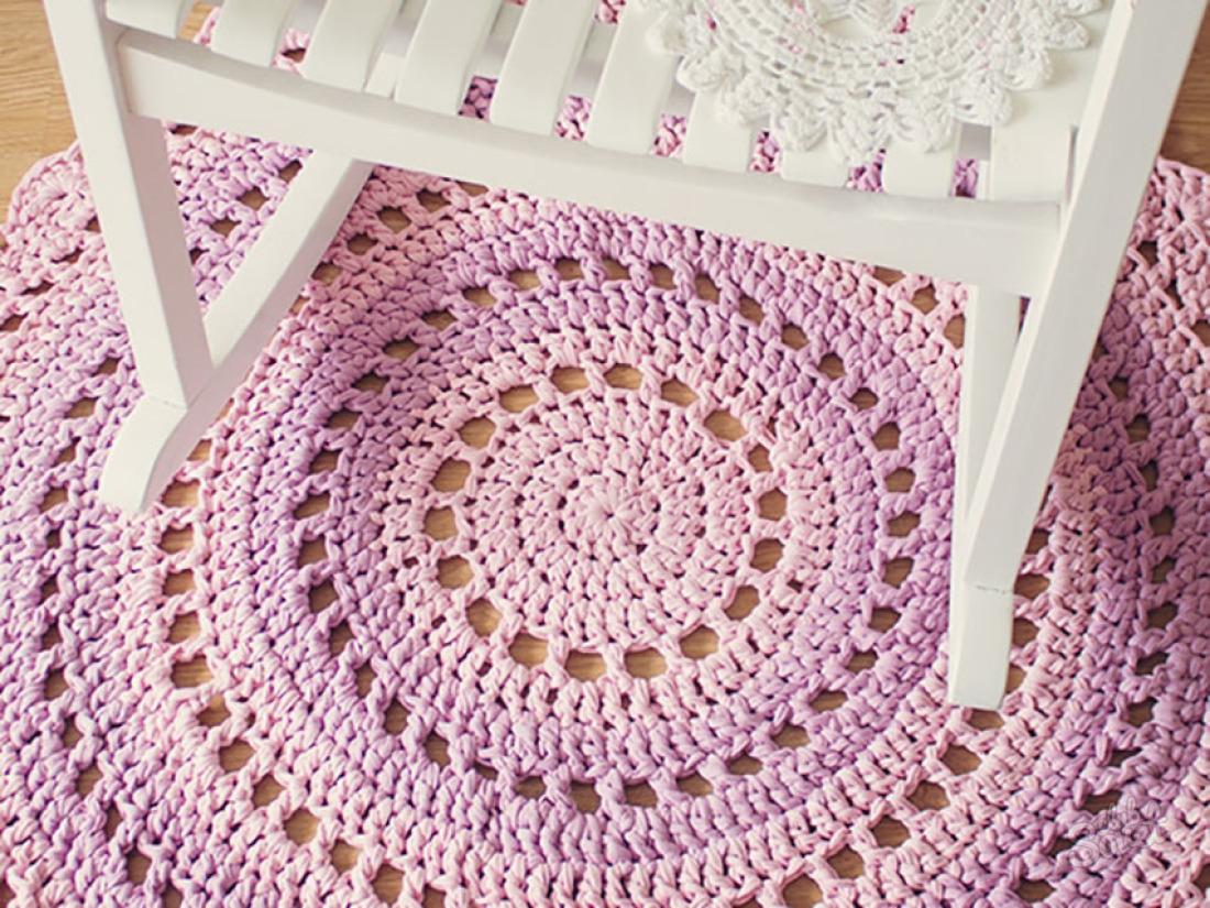 Видеоурок вязание крючком коврик