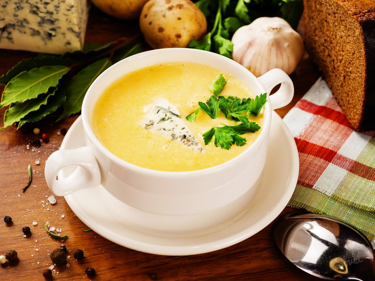 Грибной суп с курицей и плавленным сыром рецепт