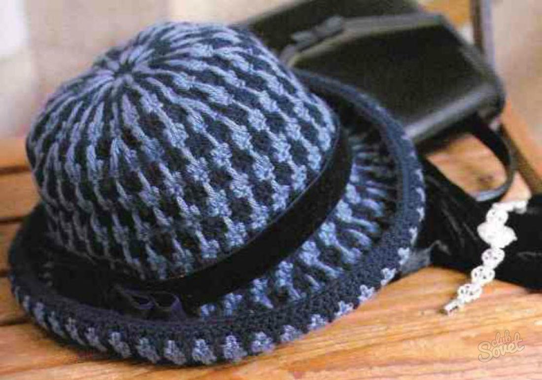 Как связать шляпу с полям видео 149